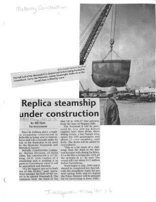 Replica steamship under construction