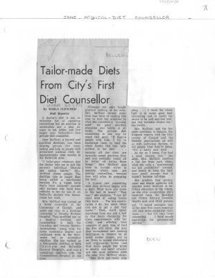 Tailor-made diets from City's first diet counsellor