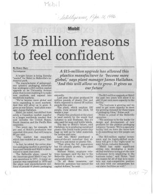 15 Million reasons to feel confident