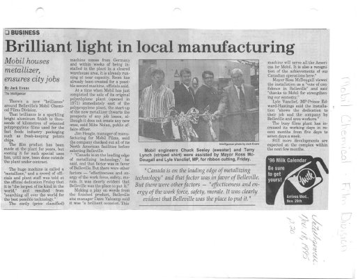 Brilliant light in local manufacturing
