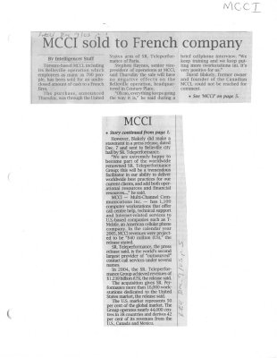 MCCI sold to French company