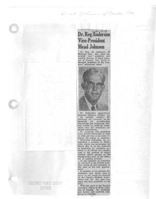 Dr. Reg Anderson Vice-President Mead Johnson