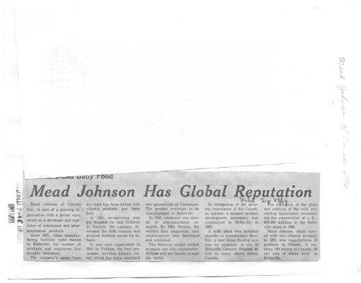 Mead Johnson has global reputation