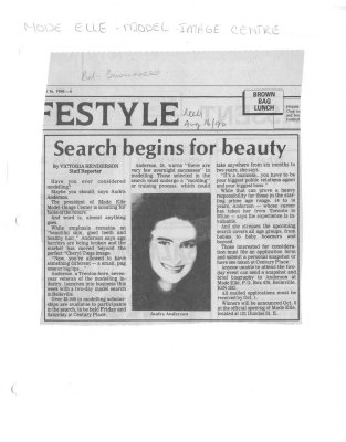 Search begins for beauty