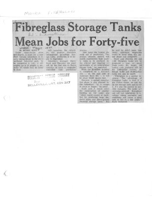 Fibreglass Storage Tanks Mean Jobs for Forty-five