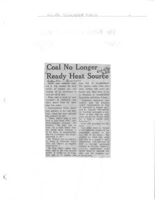 Coal no longer ready heat source