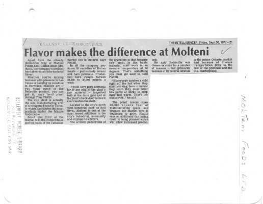 Flavor makes the difference at Molteni