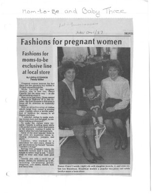 Fashions for pregnant women