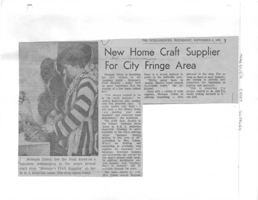 New home craft supplier for city fringe area