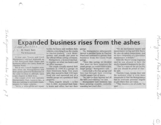 Expanded business rises from the ashes