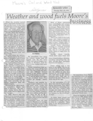 Weather and wood fuels Moore's business