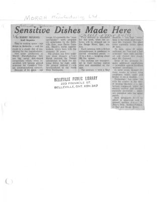 Sensitive Dishes Made Here