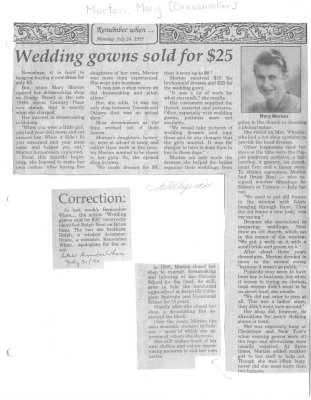 Remember When: Wedding gowns sold for $25