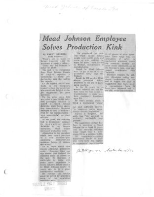 Mead Johnson Employee Solves Production Kink