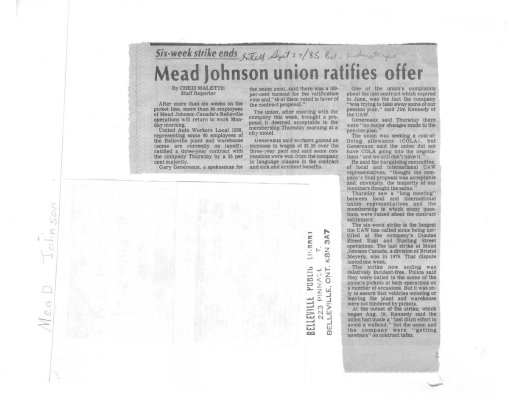 Mead Johnson union ratifies offer