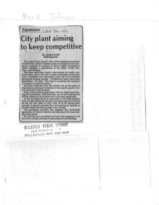 City plant aiming to keep competitive
