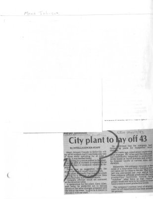 City Plant to lay of 43