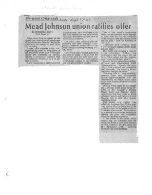 Mead Johnson union ratifies offer
