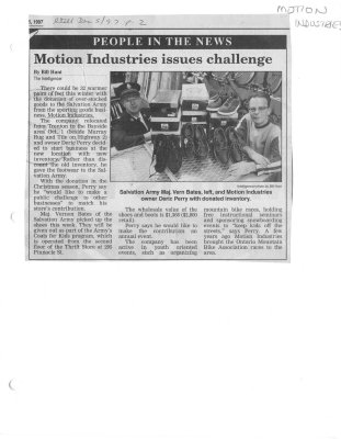 Motion Industries issues challenge