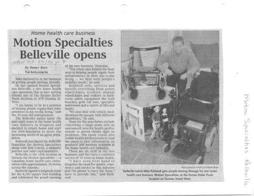 Motion Specialties Belleville opens