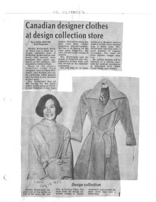 Canadian designer clothes at design collection store
