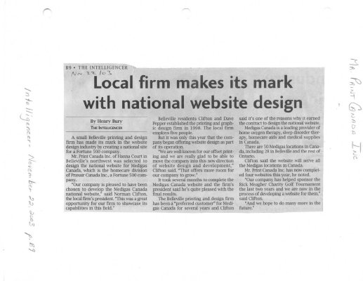 Local firm makes its mark with national website design