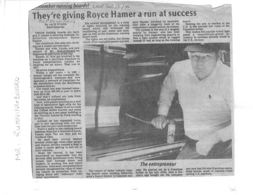 They're giving Royce Hamer a run at success