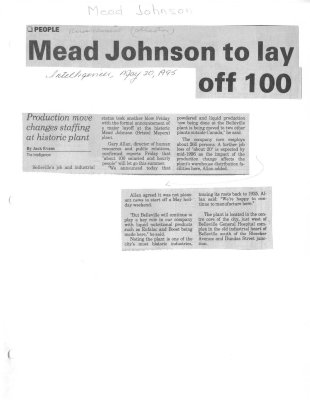 Mead Johnson to lay off 100