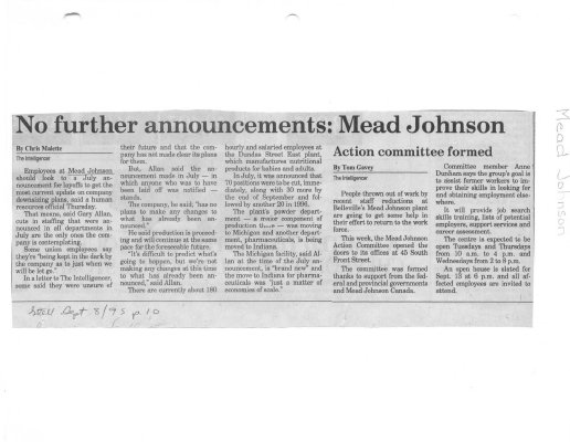 No further announcements: Mead Johnson