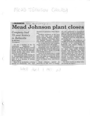 Mead Johnson plant closes