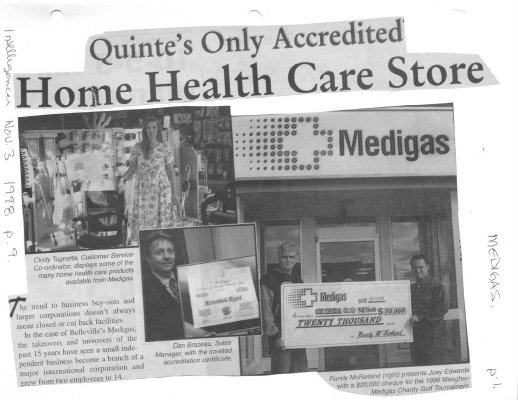 Quinte's Only Accredited Home Health Care Store