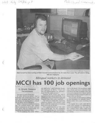 MCCI has 100 job openings
