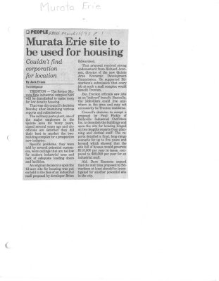 Murata Erie site to be used for housing