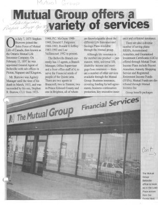 Mutual Group offers a variety of services
