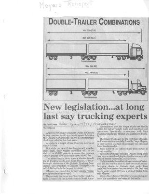 New legislation...at long last say trucking experts