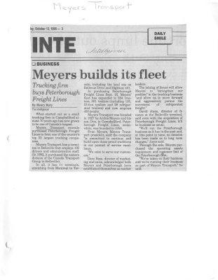 Meyers builds its fleet
