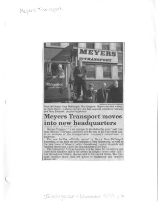 Meyers Transport moves into new headquarters