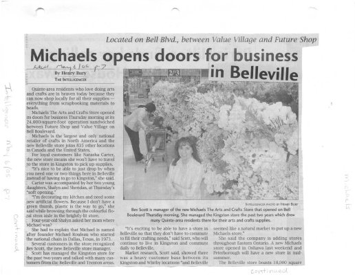 Michaels opens doors for business in Belleville