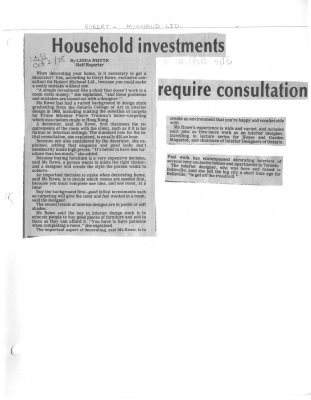 Household investments require consultation