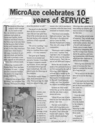 MicroAge celebrates 10 years of service