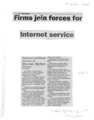 Firms join forces for internet service