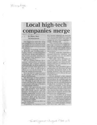 Local high-tech companies merge