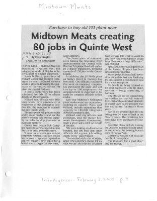 Midtown Meats creating 80 jobs in Quinte West