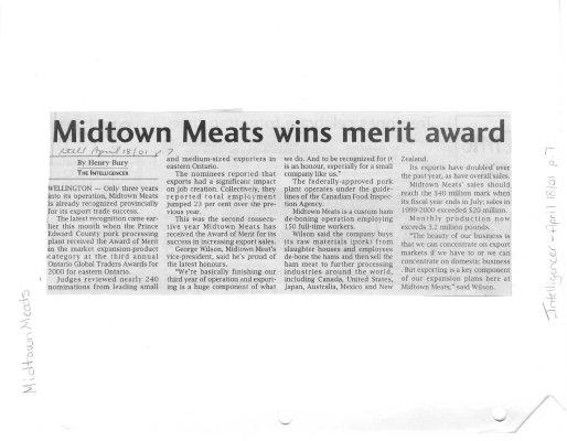 Midtown Meats wins merit award