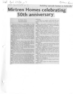 Mirtren Homes celebrating 50th anniversary