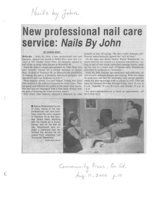New professional nail care service: Nails by John