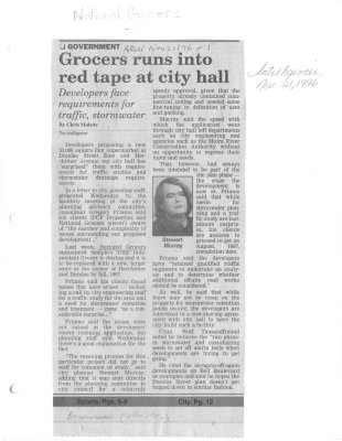 Grocers runs into red tape at city hall