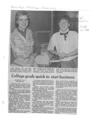College grads quick to start business