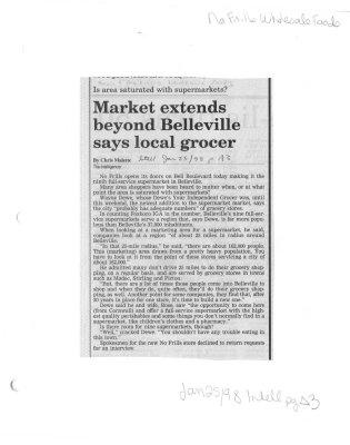 Market extends beyond Belleville says local grocer