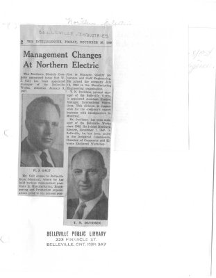 Management Changes At Northern Electric